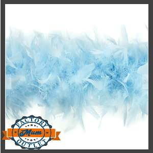 feather boa baby blue for homecoming mum supplies